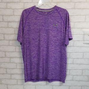 Under armour heat gear loose fit  purple top L